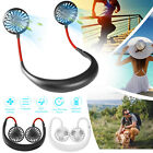 Portable USB Rechargeable Neckband Sport Fan Lazy Neck Hanging Dual Cooling Fans