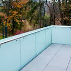 10mm Satin/Frosted Toughened Glass Balustrade Panels Balcony Decking Stairs