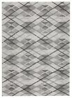 Modern Illusions Design Tartan Wool Viscose Multiweave Floor Area Rug Grey