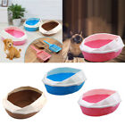 Cat Litter Box Tray Non Spill Toilet Fenced Design Pan with Rim