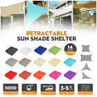 3/4/5M Sun Shade Sail Awning Canopy Waterproof UV Block Sunscreen Garden Patio