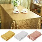 Rectangle Glitter Sequin Tablecloth Sparkly Table Cover Wedding Party Dec 59x40""