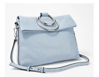 Vince Camuto Large Leather Crossbody Kimi Baby Blue - A