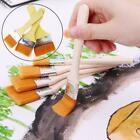 Wooden Handle Paint Brush Watercolor Brushes For Acrylic Painting Oil C8k1