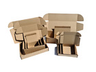 Trojan Brown Cardboard Postal Boxes Gift Mailing Packet Small Parcel Fold Up