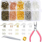 1128 Pieces Earring Making Supplies Kit with PliersTweezers Jump Ring Assorted