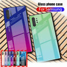 Gradient Glass Case For Samsung Galaxy S20 S10 S9 S8 Note 10 Hybrid Phone Cover