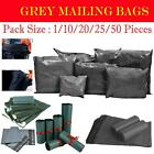 Strong Grey Mailing Post Postal Mail Bags Polythene Postage Self Seal Envelopes