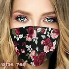 Womens Butterfly Print Cloth Fabric Face Mask Cover Reusable Washable Breathable