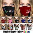 Kyпить Womens Butterfly Print Cloth Fabric Face Mask Cover Reusable Washable Breathable на еВаy.соm