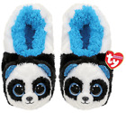 TY Beanie Babies BAMBOO the PANDA Soft Plush Slippers