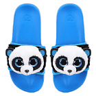 TY Beanie Babies BAMBOO the PANDA Pool Sliders Flip Flop Slides