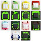 Cute Cartoon 3d Wall Silicon Switch Stickers Children Luminous Home Decoration