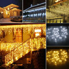 96-960 LED Fairy String Hanging Icicle Snowing Curtain Light Outdoor Xmas Party