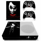 Xbox one S Slim Console Skin Vinyl Decals Stickers Joker DC Comic Horror Covers