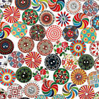 100~400pcs Flower Picture Wood Button 2 Holes Mixed Color Apparel Sewing DIY