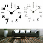 Luxury Diy 3d Large Number Wall Clock Mirror Sticker Decor Home Office Kids Room