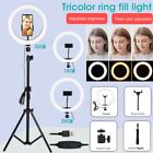 "8"" 10"" 12"" LED Ring Light Lamp w/ Tripod Stand Kit for YouTube Video Live Stream"