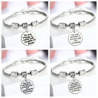925 Sterling Silver Plated Bangle Charm Chain Bracelet Lady Women Jewellery Gift