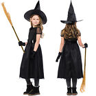 Girl Witch Cosplay Fancy Dress Halloween Roleplay Costume Hat Belt Gloves Outfit