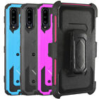 For Samsung Galaxy A20S Case Hybrid Outdoor Belt Clip Built in Screen Protector