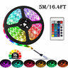 Flexible 5M 12V LED Strip Light Waterproof 300 3528 SMD Rope/Tape RGB Remote