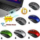 2.4GHz -Cordless Wireless Optical Mouse Mice Laptop PC Computer USB Receiver HOT