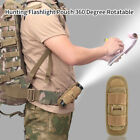 Tactical Flashlight Holder 360 Degree Rotatable Clip Torch Pouch MOLLE for Belt