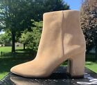 SAM EDELMAN Hilty BOOTIE Suede CAMEL TAN BROWN new $160 WOMANS Ankle Boot