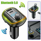 Wireless In-Car Bluetooth FM 5.0 Transmitter MP3 Radio Adapter Car 2 USB Charger