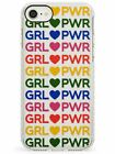 GRL PWR - Mixed Colours on Pink Impact Case for iPhone Girl Women Power