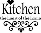 Kitchen The Heart Of The Home Wall Art Sticker Home Decor, Quality Decal Quotes