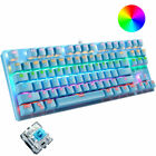 Gaming Mechanical Keyboard Wired RGB LED Backlit 87 Keys For PS4 Xbox Game Work