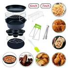 10 baking baskets 6 inch 7 inch silicone pad pizza board air fryer accessories