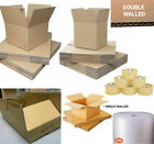 STRONG SINGLE / DOUBLE WALL BOXES / LARGE JIFFY BUBBLE WRAP 50m / PACKAGING TAPE