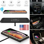 10W Qi Wireless Car Phone Charging Fast Charger Mat Pad  For Samsung iPhone US