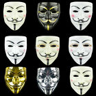 Anonymous Hacker V Vendetta Guy Fawkes Fancy Face Mask Cosplay Props Costume