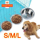 Pet Dog Cat Feeding Station Double Stainless Steel Bowls Twin Dish Food Water