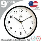 CAMY Wall Clock 9 Inch Silent Non Ticking Quartz Battery Operated Easy to Read