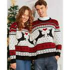 Christmas Couples Funny Two Person Ugly Sweater Jumper Xmas Winter Pullover