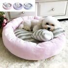 Plush Pet Dog Bed  Pillow Round Warm Cat Cushion Nest Slepping Pad for Kennel