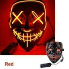 Halloween Clubbing Light Up LED Stitches Mask Costume Rave Cosplay Party Purge