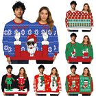 Couple Christmas Sweater Two Person Ugly Jumper Sweatshirt Party Tops Gift