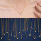 Lady Heart Star Moon Pendant Necklace Gold Clavicle Chain Choker Card Jewelry