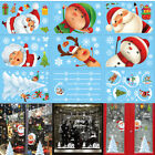 Christmas Wall Stickers Home Shop Showcase Party Door Window Decor Sticker Decal