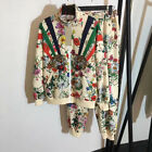 2020 Luxury Women Tracksuits Jacket Pants Embroidery Designer 2 pieces Flower
