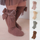 Toddler Kids Baby Girls Knee High Long Socks Bow Cotton Casual Stockings 1-3Y