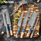 New Kitchen Knive-Set Damascus VG10 Steel Chef Knife Cleaver Paring Bread knives