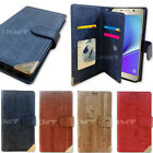 Wood Double Wallet Case for Samsung Galaxy S10 S10+ S10e 5G S9 S8 S7 S6 S5 S4 S3