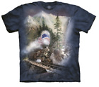KIDS BLUE FLAG TRAIN Tie Dye T-Shirt from The Mountain Sizes S,M and XL YOUTH